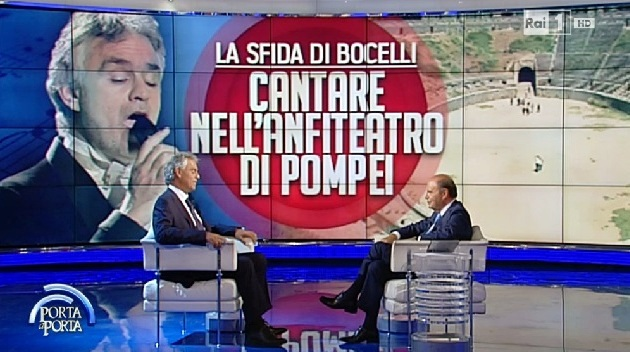 25 giugno 2015  Bocelli a Porta a Porta