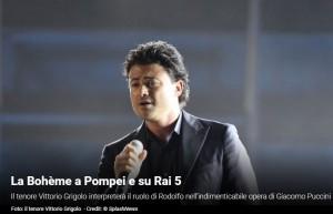 20 Agosto 2015 La Bohème a Pompei e su Rai 5