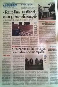 15 settembre 2015 Teatro Duni, un rilancio come gli scavi di Pompei